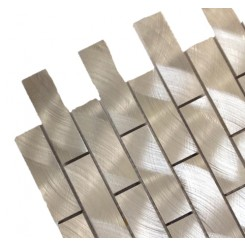 Industrial 1x3 Silver Aluminum Tile