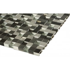 Industrial 3D Graphite Peak Metal Tile