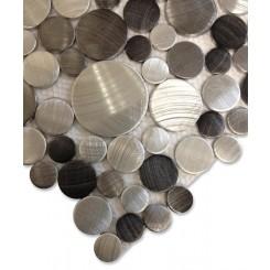 Industrial Noir Circles Aluminum Tile