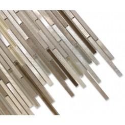 Industrial Stylus Ice Fresh Brew Aluminum Mosaic Tile