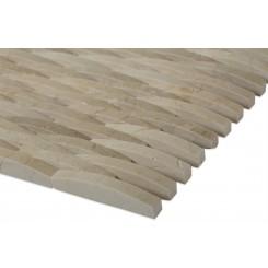 3D Interlace Crema Marfil Tile