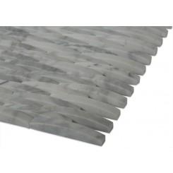 3d Interlace White Carrera Marble Tile
