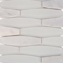 Isle Satin Snow Glass and Marble Tile