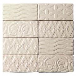 Lancaster Deco 3x6 Vanilla Ceramic Tile