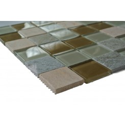 Jute Glass and Stone Tiles