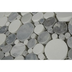 Kinetic Fog Circles Marble Tiles