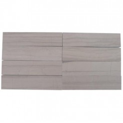 Brushed Stone Athens Gray 2x8 Marble Tile