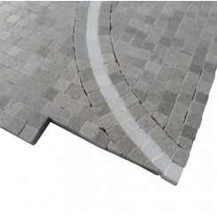 Windmill Gray and China White Marble Tile