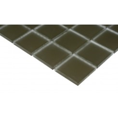 Loft Khaki Frosted 2 X 2 Glass Tiles