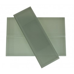 "Loft Seafoam Polished 4"" X 12"" Glass Tiles"