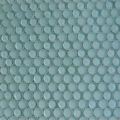Loft Adriatic Mist Penny Round Glass Tiles