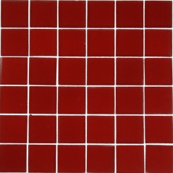 Loft Cherry Red 2 X 2 Frosted Glass Tiles