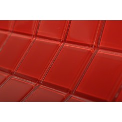 Loft Cherry Red Polished 2 X 2 Glass Tiles