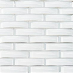 Loft Crescent Super White Glass Tiles