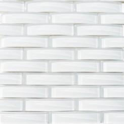 Loft Crescent Super White Glass Tiles