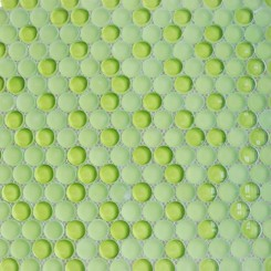 Loft Electric Lime Penny Round Glass Tiles