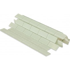 Ice White Polished Glass Tile