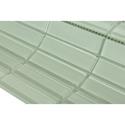 "Loft Seafoam Polished 1"" X 4"" Glass Tiles"