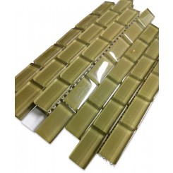 10 SQ FT: Loft Split Pea 1 x 2 Glass Tiles