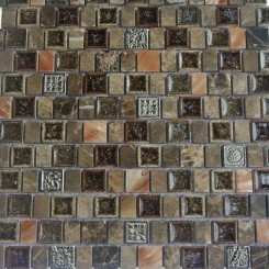 Lotus Rolling Hills Glass and Stone Tile
