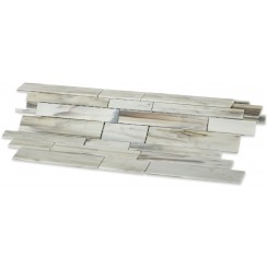 Matchstix Aura White Glass Tile