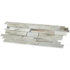 Matchstix Aura White Glass Tile