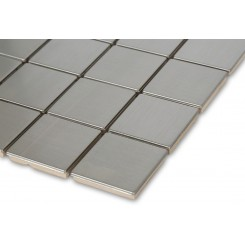 Metal Silver Stainless Steel 2x2 Square Tiles