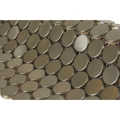 Metal Silver Stainless Steel 3/4 Penny Round Tiles