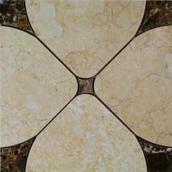Highland Floret Crema Marble Tile