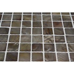 Mother Of Pearl Silver Tile