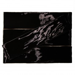 Lancaster 3x12 Noir Polished Ceramic Tile