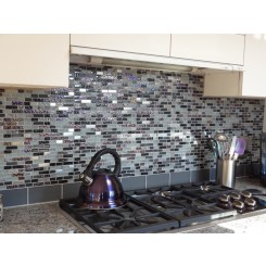 Loft Ash Gray Frosted 3x6 Glass Tile