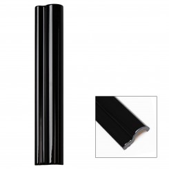 Piccadilly Noir Polished Ceramic Chair Rail Liners Sample
