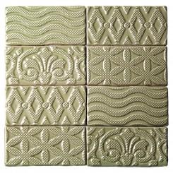Lancaster Deco 3x6 Celery Ceramic Tile