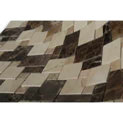 Piazza Pattern Dark Emperador Blend Marble Tiles