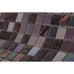 Plum Brule 3/4 X 3/4 Glass Tiles