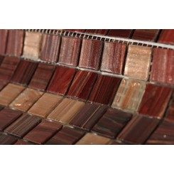 Pomegranite Blend 3/4x3/4 Glass Tile
