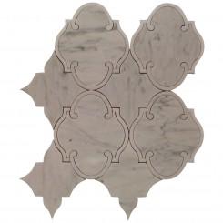 Highland Marrakesh White Carrara With White Thassos Line Marble Tile
