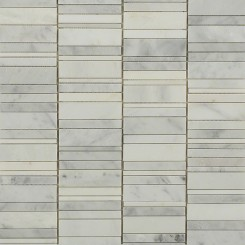 Rapids Pattern Orient White Marble Tile