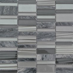 Rapids Pattern Windy City Glass and Stone Tile