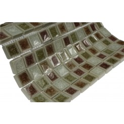 Roman Collection Quattro Parte 1x1 Glass Tile