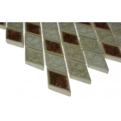 Roman Collection Rosso Diamond Glass Tile
