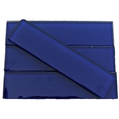 Loft Royal Blue 2x8 Polished Glass Tiles