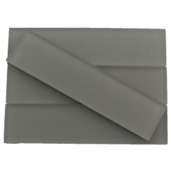 Loft Sage 2x8 Frosted Glass Tiles