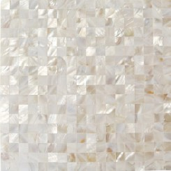 Serene White 3D Groutless Pearl Shell Tile