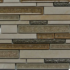 Shangri-La Crema Marfil Random Brick Glass and Stone Tile