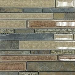 Shangri-La Slate Random Brick Glass and Stone Tile