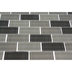 Smoke Blend 1x2 Glass Tile