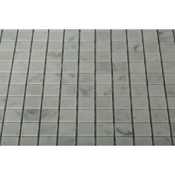 White Carrera 3/4x3/4 Marble Tile