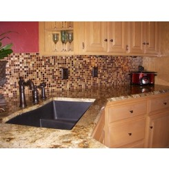 Coffee Bean 3/4x3/4 Glass Tile